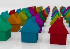 Chambres colorées Photo libre de droits
