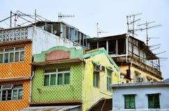 Chambres colorées sur l'île de Hong Kong Tai O images libres de droits