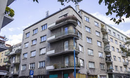 Chambres construites pendant les années '20 et les années '30 du 20ème siècle dans la ville Varsovie, Pologne Images libres de droits