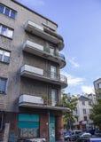 Chambres construites pendant les années '20 et les années '30 du 20ème siècle dans la ville Varsovie, Pologne Photo libre de droits