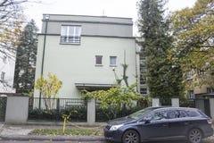Chambres construites pendant les années '20 et les années '30 du 20ème siècle dans la ville Varsovie, Pologne Photos stock