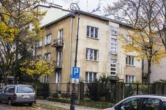 Chambres construites pendant les années '20 et les années '30 du 20ème siècle dans la ville Varsovie, Pologne Photos libres de droits