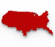 Chambres couvrant la carte des Etats-Unis Images stock