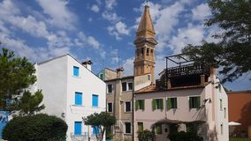 Chambres dans Burano photographie stock