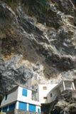 Chambres dans la roche en La Candelária de Poris De l'espagne Images stock