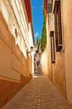 Chambres dans la vieille ville en Espagne Image stock