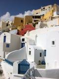 Chambres dans Santorini Photos libres de droits