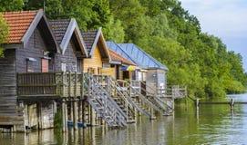 Chambres de bateau sur le lac Ammersee Photo stock