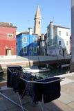 Chambres de Burano Venise Italie Images libres de droits