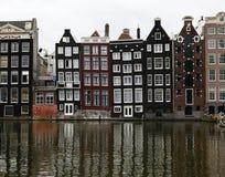 Chambres de canal à Amsterdam, Hollandes Images libres de droits