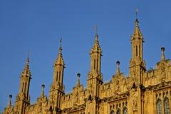 Chambres de détail de toit du Parlement Image libre de droits