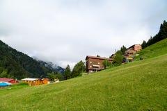 Chambres de montagne dans le plateau d'Ayder Images libres de droits
