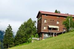 Chambres de montagne dans le plateau d'Ayder Photos stock