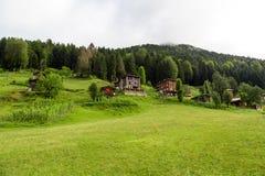 Chambres de montagne dans le plateau d'Ayder Image stock