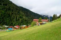 Chambres de montagne dans le plateau d'Ayder Photographie stock