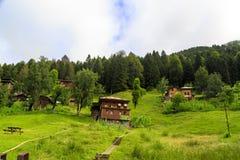 Chambres de montagne dans le plateau d'Ayder Photographie stock libre de droits