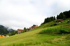 Chambres de montagne dans le plateau d'Ayder Photo libre de droits