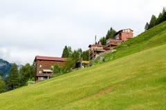 Chambres de montagne dans le plateau d'Ayder Image libre de droits