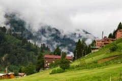 Chambres de montagne dans le plateau d'Ayder Photo stock