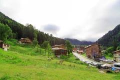 Chambres de montagne dans le plateau d'Ayder images stock