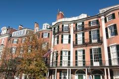 Chambres de rangée de Beacon Hill à Boston, le Massachusetts Photographie stock libre de droits