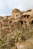 Chambres de roche de Cavusin, Cappadocia, Turquie photographie stock