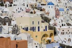 Chambres de Santorini Image libre de droits