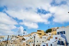 Chambres de Santorini Photos libres de droits