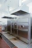 Chambres de tabagisme sur l'usine de traitement des denrées alimentaires des produits alimentaires, modifiée la tonalité image libre de droits