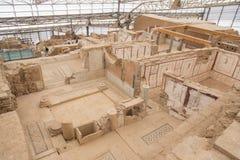 Chambres de terrasse dans la ville antique d'Ephesus Photos stock