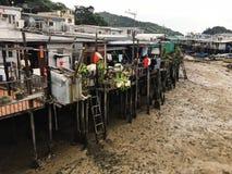 Chambres de village Hong Kong de Tai o Photographie stock libre de droits