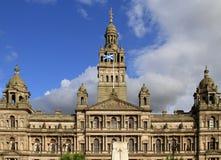 Chambres de ville de Glasgow Images libres de droits