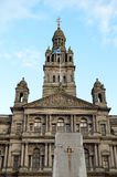 Chambres de ville en George Square, Glasgow, Ecosse Image stock