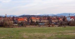Chambres devant les montagnes géantes, Jelenia Gora, Pologne Image libre de droits