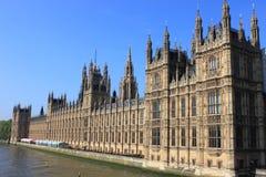 Chambres du Parlement à Londres Images libres de droits