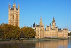 Chambres du Parlement à Londres Photos stock
