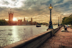Chambres du Parlement et de grand Ben, Londres Image libre de droits