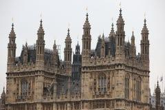 Chambres du Parlement, palais de Westminster, Londres Photographie stock libre de droits
