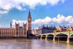 Chambres du Parlement, Westminster, Londres Images libres de droits