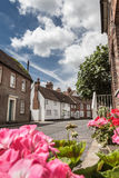 Chambres et fleurs sur la rue historique de Fishpool à St Albans Photos libres de droits