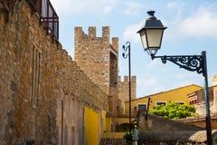 Chambres et nature de ville antique Montblanc Photographie stock libre de droits