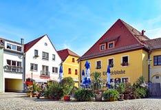 Chambres et restaurants dans Radebeul Kötzschenbroda Allemagne photo libre de droits