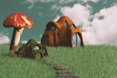 Chambres féeriques minuscules d'imagination illustration stock