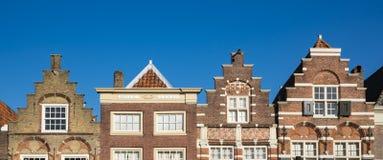 Chambres faites un pas de pignon dans Nieuwstraat Dordrecht Les Pays-Bas photographie stock