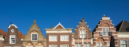 Chambres faites un pas de pignon dans Nieuwstraat Dordrecht Les Pays-Bas photo libre de droits