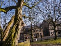 Chambres géorgiennes à Lancaster comté la ville de Lancashire en Angleterre images libres de droits