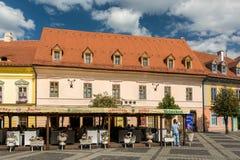 Chambres médiévales Sibiu du centre Image stock