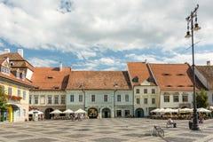 Chambres médiévales Sibiu du centre Images stock