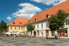Chambres médiévales Sibiu du centre Photographie stock