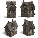Chambres médiévales - auberge Photo stock